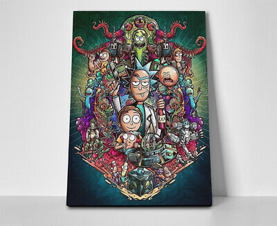 Rick and Morty Characters Poster or Canvas