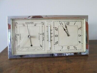 Art Deco 8 Day Clock and Barometer Made in England by ABEC~Early 1930's