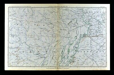 Civil War Map Arkansas Missouri Tennessee New Madrid Cape Giradeau Dyersburg