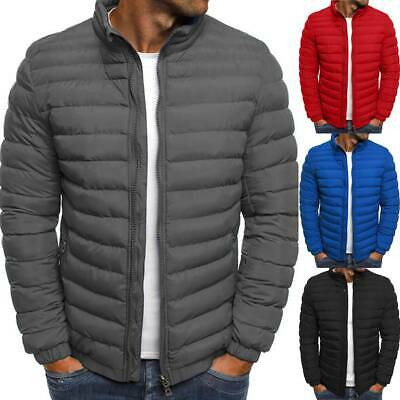 Packable Light Men Down Puffer Jacket Bubble Ski Coat Quilted Padded Outwear Top
