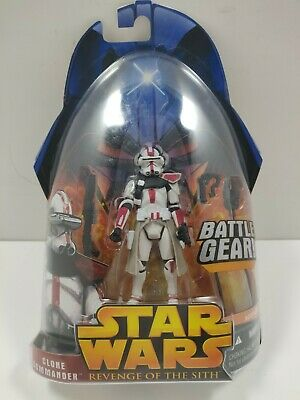 Star Wars Revenge Of The Sith Clone Commander Battle Gear #33 Red