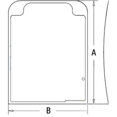 FRONT UPPER WINDSHIELD CAB GLASS for HITACHI 4369609 EXCAVATOR