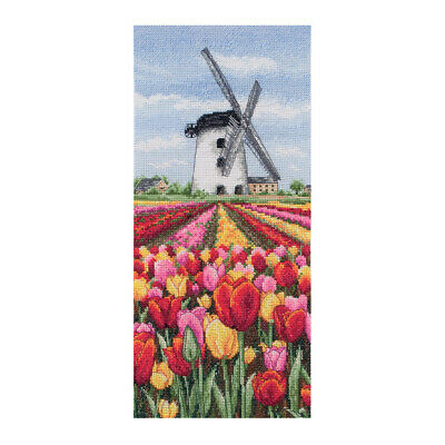 ANCHOR | Counted Cross Stitch Kit: Dutch Tulips Landscape Wall Hanging | PCE0806