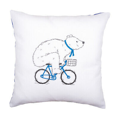 VERVACO|Embroidery Kit: Cushion: Cycling Bear|PN-0162238