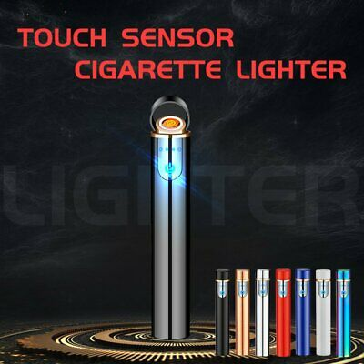 Electric Cigarette Lighter Touch Sensitive Flameless Windproof  USB Rechargeable