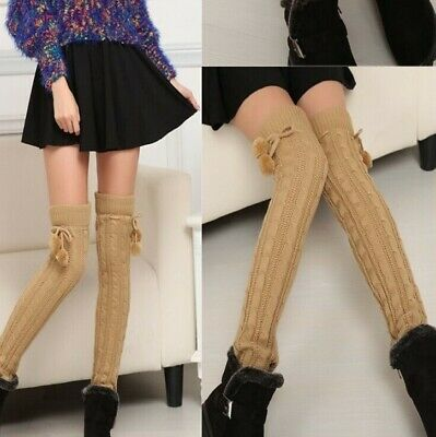 2 Pairs Casual Women Leg Warmers Winter Classic Crochet Extended Knitting Warm