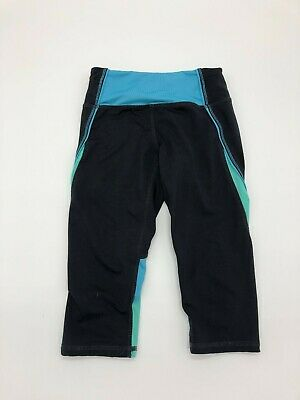 Kyodan Girl's Kids Size 7/8 Small Green Black Blue Leggings
