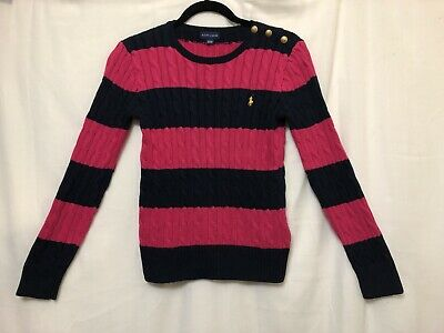 Ralph Lauren Jumper Girls ~ Size Extra Large XL ~ Great Cond Cable Knit Sweater