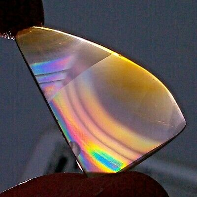 8ct Top Grade Rainbow IRIS AGATE ~Multi-Color Fire~ 1-of-a-kind ~100% Natural~