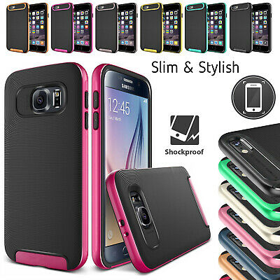 VERUS 2 Pack Slim Armour Shockproof Case Cover For Samsung Galaxy S6/S7 Edge S7