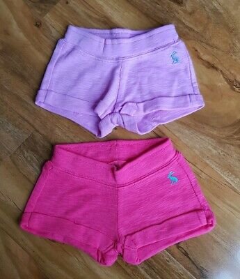 Joules BABY Girls Kittiwake Jersey Shorts PACK OF 2 IN PINK&NEON MAUVE BRAND NEW