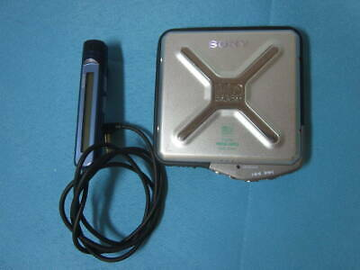 SONY MZ-E44 Blue Portable MD Player Walkman Remote control and Earphone F//S
