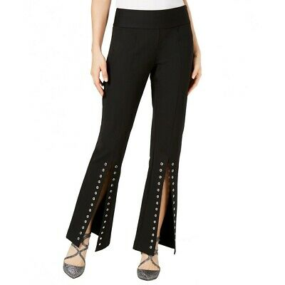INC NEW Women's Front Split-leg Grommeted Casual Pants TEDO