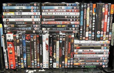 Collection of Horror/Slasher/Ghost/Supernatural/Scary DVD Movies Job Lot #12938