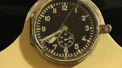 Rare Ww11 Junghans German Luftwaffe  Cockpit Clock Fl25591 - Wooden Mantle Clock