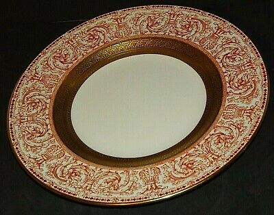 "Royal Crown Derby Bone China 10.5"" Cabinet Plate Vintage 1964"