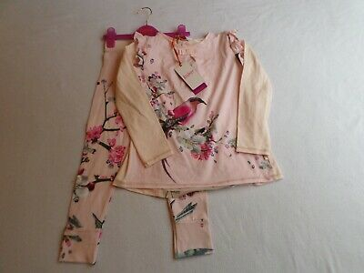 BNWT gorgeous girls Ted Baker pyjamas - age 7-8 - bird and floral design