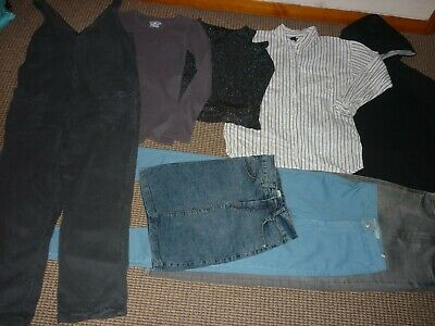 Bundle Girls Clothes age 13-14yrs Jeans Dungaree Tops Hoodie Skirt Zara Topshop
