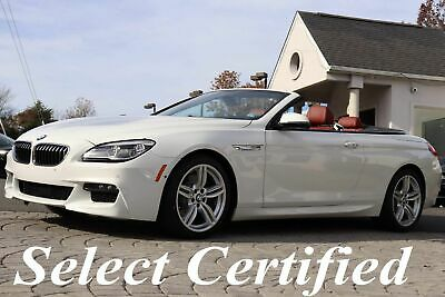 2017 BMW 6-Series 640i xDrive Convertible M Sport Edition 2017 640i xDrive Convertible M Sport Edition Origianl MSRP $99,795 White on Red