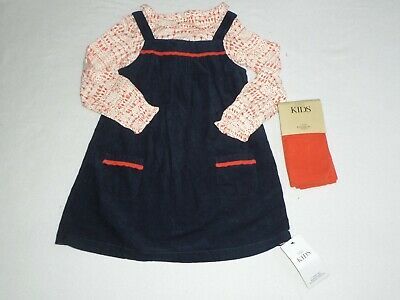 BMWT Marks & Spencer M&S 3 piece girls pinafore set - age 4-5