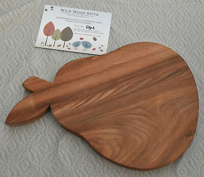 Wild Wood Gifts Elm bread/cheese board, pear-shape