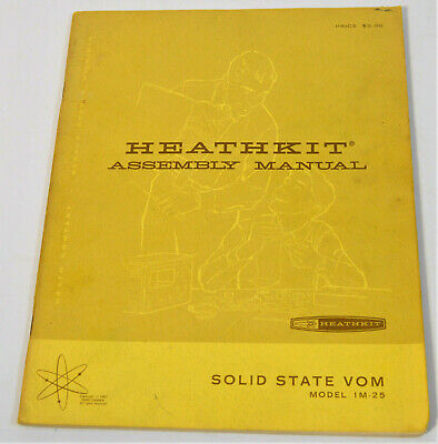 Vintage Heathkit Assembly Operation Manual Solid State Vom Model IM-25