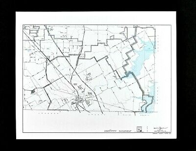 Texas Map Tarrant County Mansfield Joe Pool Lake Webb Highways Railroads TX