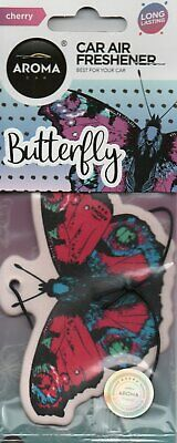 Aroma - Car Air Freshener - Butterfly - Cherry                  *New And Sealed*