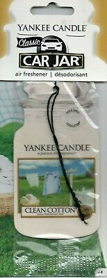 Yankee Candle - Car Air Freshener - Clean Cotton                *New And Sealed*