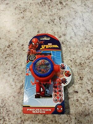 Marvel Spider Man Kids Projection Watch Toy Iron Man Thor Hulk 10 Images NEW