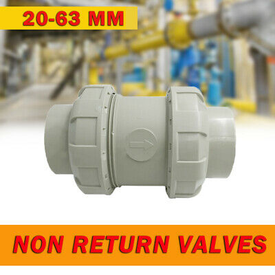High Quality PVC U Non Return Valves One Way Solvent Weld 20 25 32 40 50 63 mm