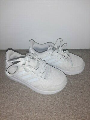 Girls White Adidas Trainers Size 11 worn once