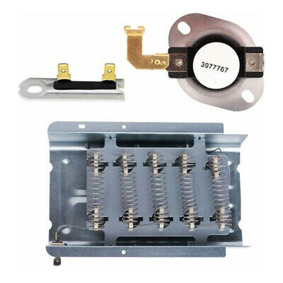 Dryer Heating Element Thermostat Kit 279838&3977767&3392519 Durable For Kenmore