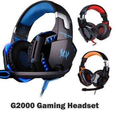 EACH G2000 Game Gaming Headset USB 3.5mm LED Stereo PC Headphone Microphone AU