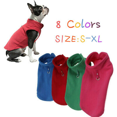 Winter Fleece Pet Clothes Small Puppy Dogs Clothing French Bulldog Coat Jacket