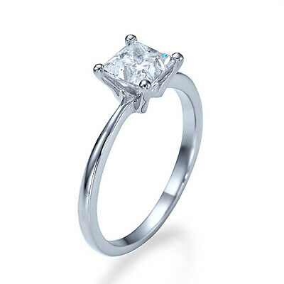 New Real 1/2 CT Engagement Ring D VS1 Diamond Size 4.25