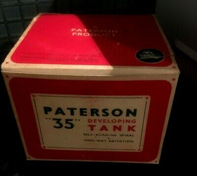 Vintage Paterson 35 Black Bakelite Developing Tank Mint With Box