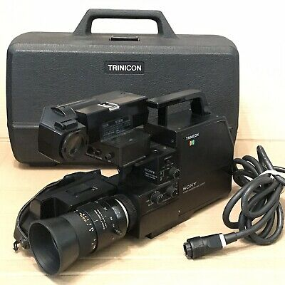 Vintage Sony Trinicon HVC-2000P Video Camera with Hard Case - Canon TV Lens