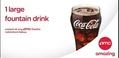 AMC: 1 Large Drink - Fast E-Delivery of E-Voucher with PIN and barcode