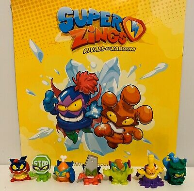 Superzings Series 4 Rivals Of Kaboom 7 Character Bundle Free Postage 🚚