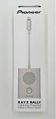 Pioneer Rayz Rally Lightning - Portable Conference Speaker - White (Apple iPhone