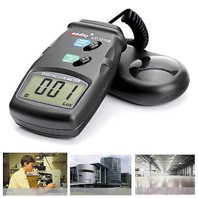 High Accuracy 50,000 Lux Digital LCD Light Meter Photometer 3 Range Luxmeter