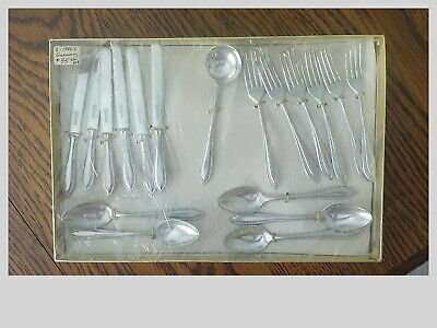 Childs Doll Toy Silverware ANTIQUE Metal 1920's  MARKED GERMANY 18 pc