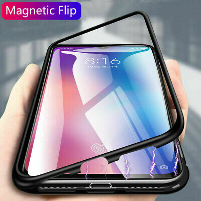 Magnetic Adsorption Case For Xiaomi Mi 9 Lite 9T Note 10 Pro Double Glass Cover