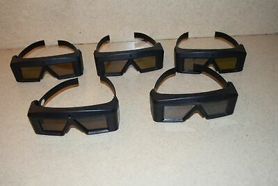 ^^ StereoGraphics CORP CRYSTAL EYES MODEL CE-3 GLASSES - LOT OF 5 (AA)