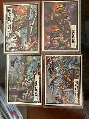 1962 Topps Civil War News Trading Cards Lot of 4 - NUMBERS  67,68,69,70