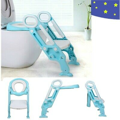 Toilet Chair  Potty Training Seat with Step Stool Ladder Children Toddler Kids