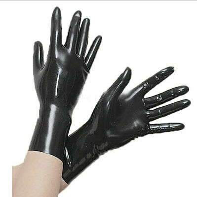 Latex Rubber Cosplay Kostüm Handschuhe Sexy Five Fingers Gloves S-XXL 0.4mm