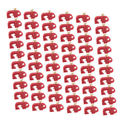 60 Pieces Mini Circuit Breaker Fuse Lockout with Twisted Screw Device Red