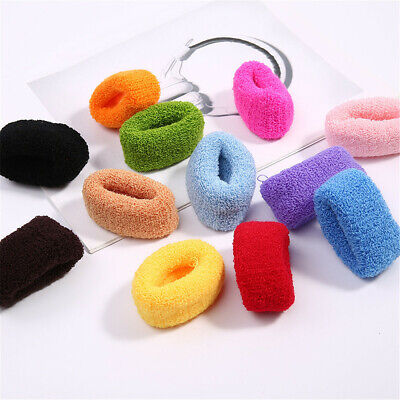Candy Color High Elasticity Towel Scrunchies Elastic Hair Rope for Women Girls